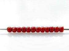 Picture of Japanese seed beads, Toho, size 11/0, brick red, matte, PermaFinish, galvanized