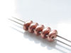 Picture of 5x2.5 mm, SuperDuo beads, Czech glass, 2 holes, metallic, copper, matte