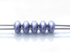 Picture of 5x2.5 mm, SuperDuo beads, Czech glass, 2 holes, opaque, powdery, lilac blue