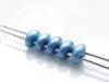 Image de 5x2.5 mm, perles SuperDuo, de verre tchèque, 2 trous, opaque, poudreux, bleu océan