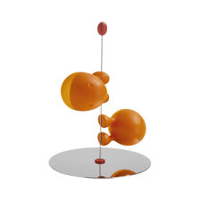 Picture of Alessi, Lilliput, salt and pepper set, orange, Stefano Giovannoni, 1993