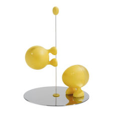 Picture of Alessi, Lilliput, salt and pepper set, yellow, Stefano Giovannoni, 1993