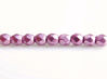 Picture of 2x2 mm, Czech faceted round beads, orchid or pearly purple, opaque, sueded gold