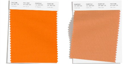Pantone 20-21 - orange to brown