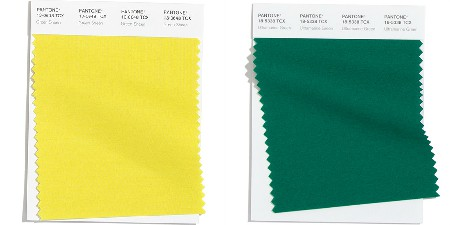 Pantone 20-21 - yellow to green